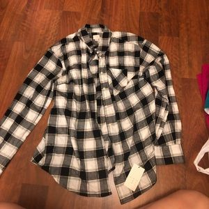 NWT A New Day flannel w/gold detail